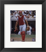 Framed Johnny Bench - Catchers Gear