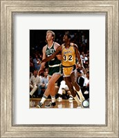 Framed Larry Bird and Magic Johnson