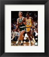Framed Larry Bird and Magic Johnson
