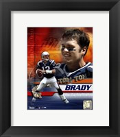 Framed Tom Brady - 02 Portrait Plus + II