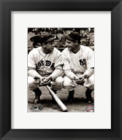 Framed Jimmie Foxx / Lou Gehrig