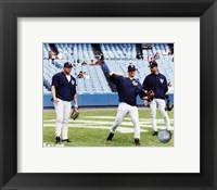 Framed Jason Giambi / Jorge Posada / Derek Jeter - Game Preparation