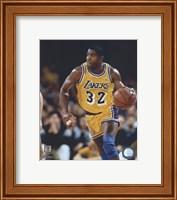 Framed Magic Johnson - Ball in left hand