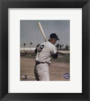 Framed Ted Williams - Bat on shoulder
