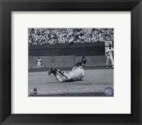 Framed Brooks Robinson - Diving catch, sepia