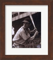 Framed Stan Musial -Batting stance, posed sepia