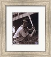 Framed Stan Musial -Batting stance, posed sepia