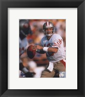 Framed Joe Montana - #4 Looking