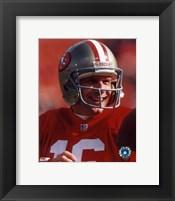 Framed Joe Montana - #19 Close up