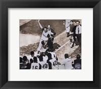 Framed Bill Mazeroski - 1960 World Series Winning Home Run, sepia