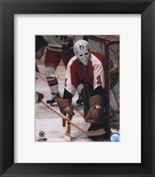 Framed Bernie Parent - In net