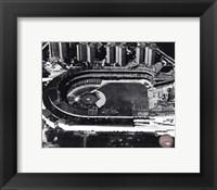 Framed Polo Grounds - Aerial view, sepia
