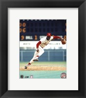 Framed Bob Gibson - Pitching Action On The Field