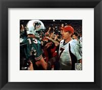 Framed Dan Marino / John Elway