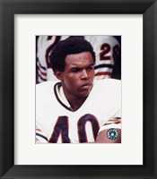 Framed Gale Sayers - Close up, sidelines
