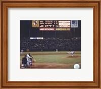 Framed Nolan Ryan - 6th No Hitter (Last Pitch)