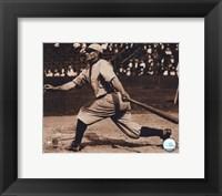 Framed Honus Wagner - Batting, sepia