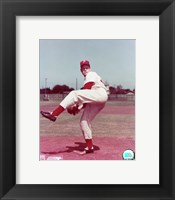 Framed Robin Roberts - Posed, pitching