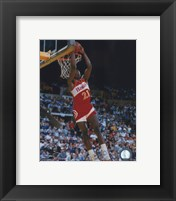 Framed Dominique Wilkins - Dunking Action