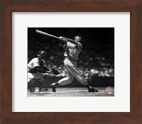 Framed Ted Williams - Batting (sepia)