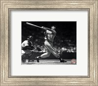 Framed Ted Williams - Batting (sepia)