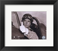 Framed Ted Williams - Fighter Pilot (sepia)