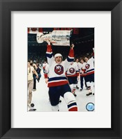 Framed Mike Bossy - with Stanley Cup
