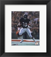 Framed Walter Payton - Running with ball