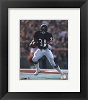 Framed Walter Payton - Running with ball
