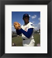 Framed Ferguson Jenkins - Ball in glove, posed