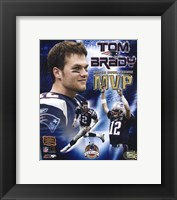 Framed Tom Brady - Super Bowl XXXVIII MVP Champions Collection (limited Edition)