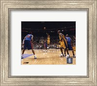 Framed Kobe Bryant - '04 Finals 3 point shot/ front view