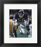 Framed Lawrence Taylor - Defensive Stance