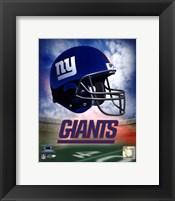 Framed N.Y. Giants Helmet Logo