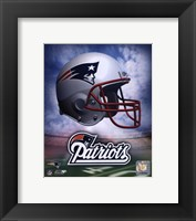 Framed New England Patriots Helmet Logo