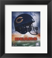 Framed Chicago Bears Helmet Logo