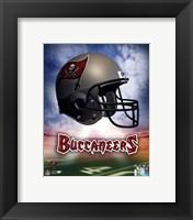Framed Tampa Bay Buccaneers Helmet Logo