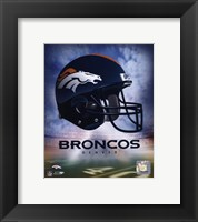 Framed Denver Broncos Helmet Logo