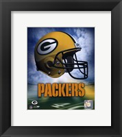 Framed Green Bay Packers Helmet Logo