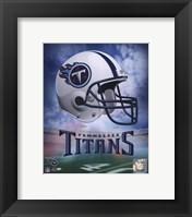Framed Tennessee Titans Helmet Logo