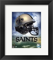 Framed New Orleans Saints Helmet Logo