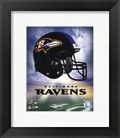 Framed Ravens Helmet Logo ('04)