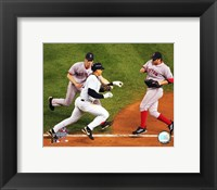 Framed Alex Rodriguez being tagged out by Bronson Arroyo in game 6 of the '04 ALCS