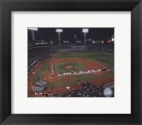 Framed 2004 World Series Opening Game National Anthem at Fenway Park, Boston