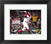 Framed 2004 World Series Game 2 - Jason Varitek hits first inning two run triple