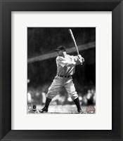 Framed Lou Gehrig - Batting Action