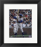 Framed Ernie Banks - Batting Stance