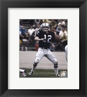 Framed Ken Stabler - Passing Action