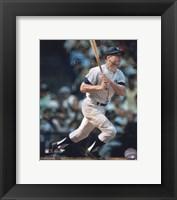 Framed Mickey Mantle - Batting