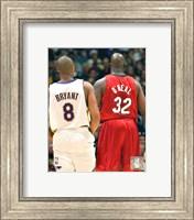 Framed Shaquille O'neal - Kobe Bryant - Heat / Lakers